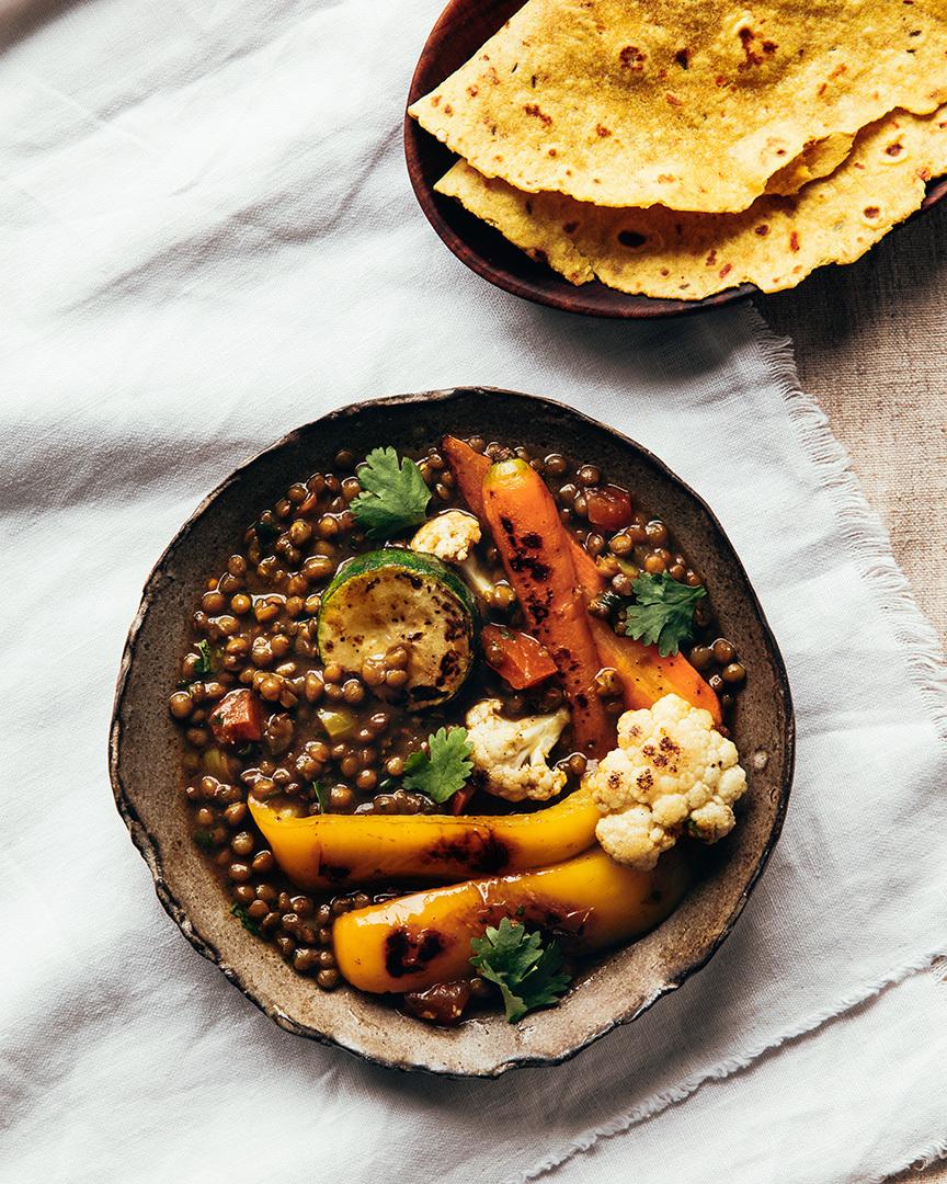 Locaal Dhal aux lentilles Du Puy du Québec et légumes rôtis
