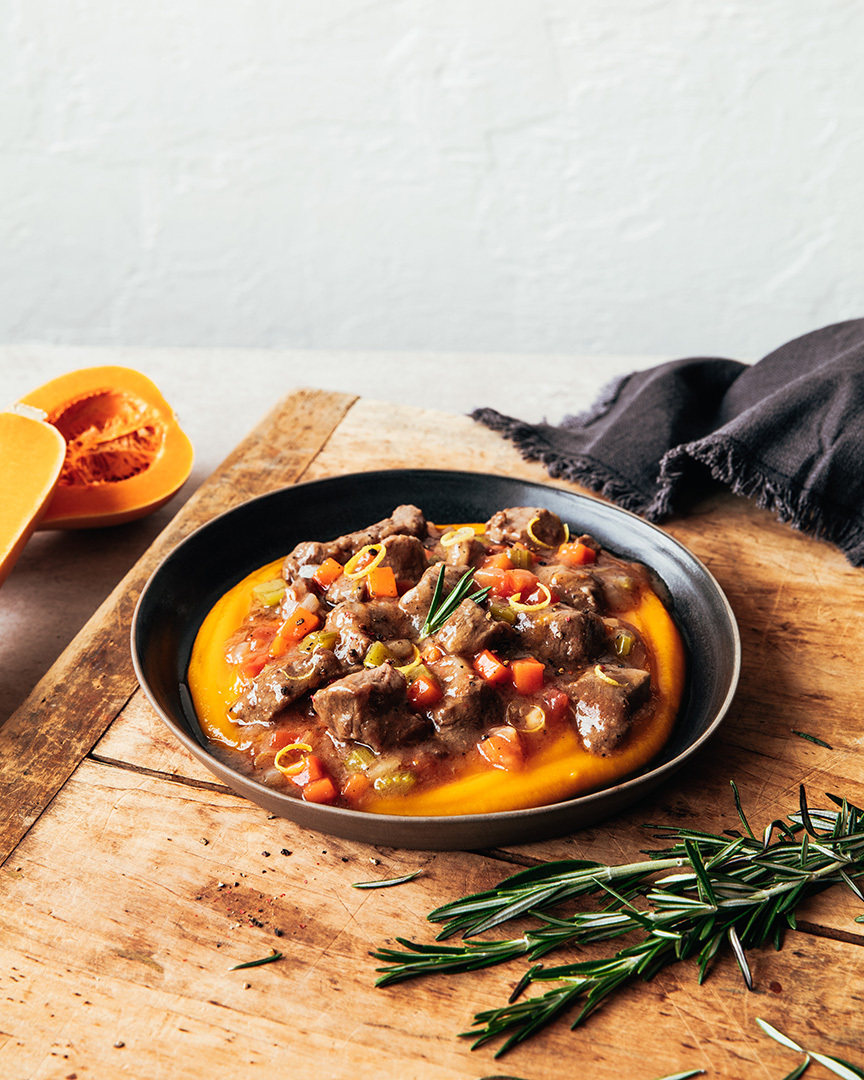 Locaal Quebec lamb stew with fresh rosemary