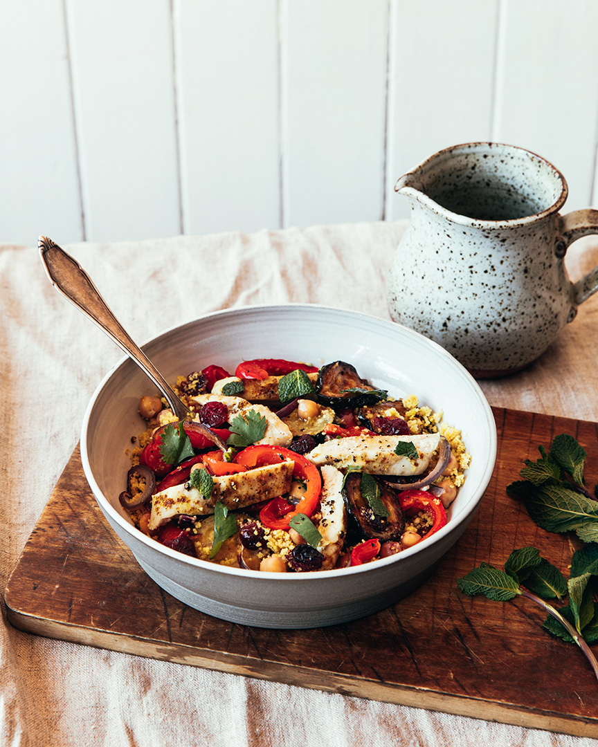 Locaal Moroccan-inspired roasted chicken and whole wheat couscous salad